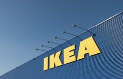 IKEA tecken på den Ikea marknaden Royaltyfri Bild
