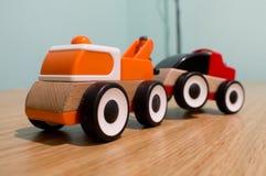 Ikea träbärgningsbil Fotografering för Bildbyråer