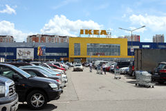 The IKEA trade center in Khimki city, Moscow Region. MOSCOW, RUSSIA - JUNE 12, 2013: The IKEA trade center in Khimki city. IKEA is the biggest landowner in Stock Photo