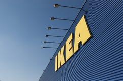 IKEA unterzeichnen auf Ikea-Markt Stockbilder