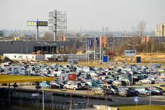 IKEA Vilnius Store. Ikea now is largest furniture retailer. Royalty Free Stock Image