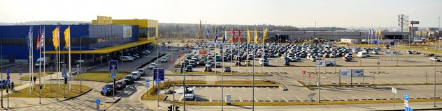IKEA Vilnius Store. Ikea now is largest furniture retailer. Royalty Free Stock Photography