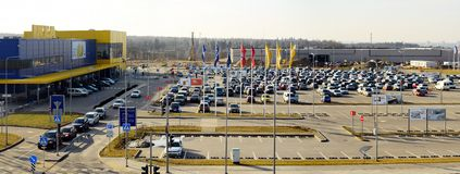 IKEA Vilnius Store. Ikea now is largest furniture retailer. Royalty Free Stock Images