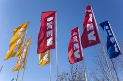 IKEA-vlaggen Stock Afbeelding