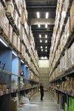 Ikea warehouse. Beijing ikea indoor warehouse shelves Royalty Free Stock Photos
