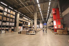 Ikea warehouse Royalty Free Stock Photo