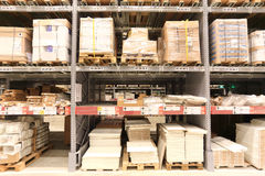 Ikea warehouse Stock Photo