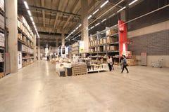 Ikea warehouse. Beijing ikea indoor warehouse shelves Stock Photos