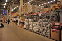 Ikea warehouse Royalty Free Stock Images