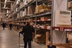 Ikea warehouse Royalty Free Stock Images