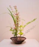 Ikebana 花的布置 免版税库存图片