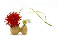 Ikebana. Against white background stock illustration