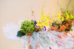 Ikebana arranjo de flor Imagens de Stock Royalty Free