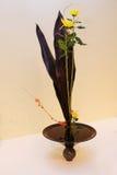 Ikebana. Flower arrangement. Chrysanthemum flowers in the vase Royalty Free Stock Photo