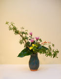 Ikebana. Flower arrangement. Chrysanthemum flowers in the vase Royalty Free Stock Photos
