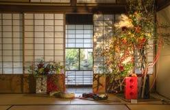 Ikebana ha sistemato nell'interno Fotografie Stock
