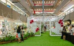 Ikebana internationellt Singapore kapitel Arkivbild