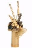 Ikebana isolou o branco Fotografia de Stock Royalty Free