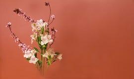 Ikebana kwiatu przygotowania z kopii przestrzenią Fotografia Stock
