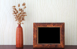 Ikebana und Weinlese Fotofeld Stockbild