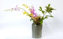 Ikebany Asia kwiatu tajlandzka dekoracja Obraz Royalty Free