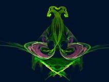 Ikebany ` kamienia kwiatu ` Graficzny abstrakcjonistyczny tło z kolorowym fractal wytwarzającym komputerem royalty ilustracja