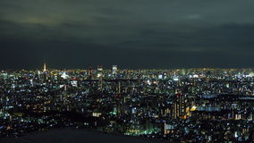 Ikebukuro City Scape and Tokyo Tower Stock Photo