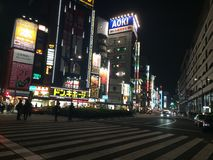 Ikebukuro na noite Imagens de Stock Royalty Free