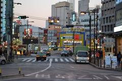 Ikebukuro-Straßen Lizenzfreies Stockfoto