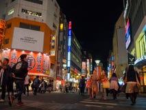 Ikebukuro ulicy & ruchu drogowego styl życia: 21 2017 PAŹDZIERNIK: tok Zdjęcia Stock