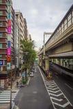 Ikebukuro ulicy & ruchu drogowego styl życia: 21 2017 PAŹDZIERNIK: tok Zdjęcia Royalty Free