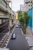 Ikebukuro ulicy & ruchu drogowego styl życia: 21 2017 PAŹDZIERNIK: tok Obrazy Royalty Free