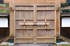 Ikeda shiroatokoen Ancient gate Royalty Free Stock Images