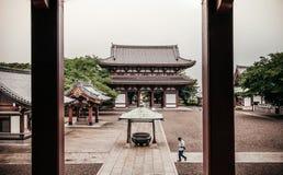 Ikegami Honmon-ji świątynia i starzy historyczni Japońscy budynki widziimy Fotografia Royalty Free