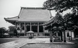 Ikegami Honmon-ji świątynia wewnątrz i starzy historyczni Japońscy budynki Zdjęcie Royalty Free