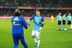 Iker Casillas at the beginning of Spain vs Romania soccer match Stock Image