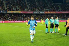 Iker Casillas at the beginning of Spain vs Romania soccer match Royalty Free Stock Photo