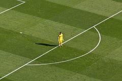 Iker Casillas fuori della sua casella Fotografia Stock