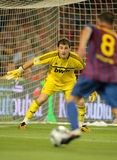 Iker Casillas of Real Madrid. In action during the Spanish Supercup football match between Barcelona vs Real Madrid at the New Camp Stadium on August 17, 2011 stock photography