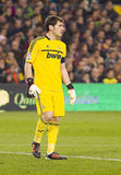 Iker Casillas. Of Real Madrid in action at the Spanish Cup match between FC Barcelona and Real Madrid, final score 2 - 2, on January 25, 2012, in Barcelona stock photography