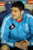Iker Casillas of Real Madrid. During the Spanish League match between Espanyol and Real Madrid at the Estadi Cornella on May 11, 2013 in Barcelona, Spain stock photos