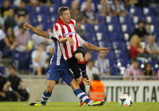 Iker Muniain of Bilbao. Iker Muniain of Athletic Bilbao in action during a Spanish League match between RCD Espanyol vs Bilbao at the Estadi Cornella on Stock Image