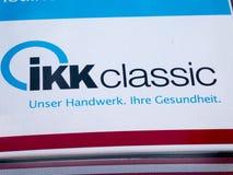 IKK ubezpieczenia zdrowotnego klasyczna firma fotografia stock