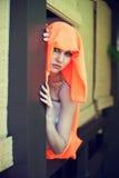 Iklädd östlig stil för ung härlig kvinna royaltyfri fotografi