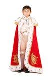 Iklädd pojke en robe Royaltyfria Foton
