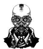 Iklädd steampunkstil för flicka royaltyfri illustrationer