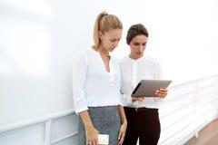 Iklädda företags kläder för eleganta kvinnliga kollegor Royaltyfria Foton