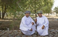 Iklädda traditionella kläder för omansk man för tillfälle av Eid al Royaltyfria Foton