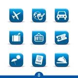 ikon 8 serii gładzą podróż Obraz Royalty Free