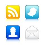 ikon ampuły socjalny Fotografia Royalty Free